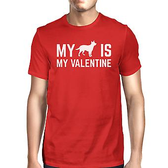 My Dog My Valentine Men's Red T-shirt Gift Ideas For Dog Lovers