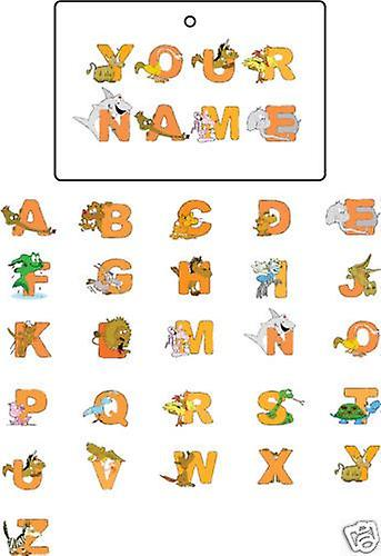Personalised Animal Alphabet Car Air Freshener