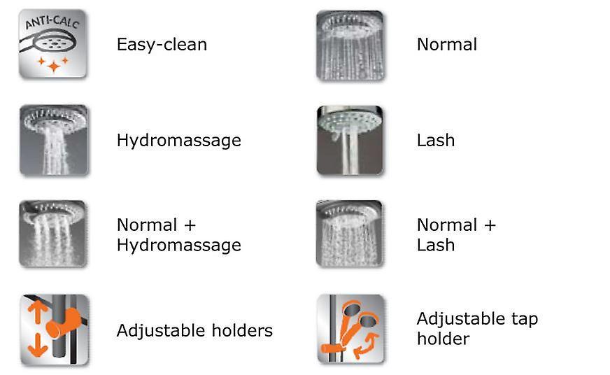 Complete Bath Set Multifunction Shower Head + 150cm Hose + Bracket + Soap Dish