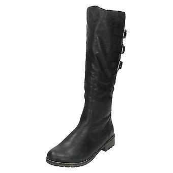 Ladies Remonte High Leg Biker Style Boot R3370