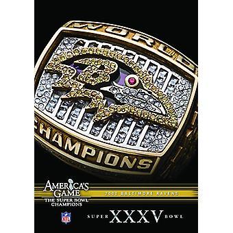 NFL Amerika spil: 2000 ravne (Super Bowl Xxxv) [DVD] USA importerer