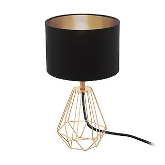 Eglo Carlton Rose Copper Wire Frame Table Lamp