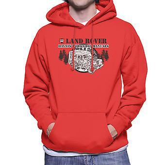 Haynes Owners Workshop Manual Land Rover Forest Black Men's Hooded Sweatshirt