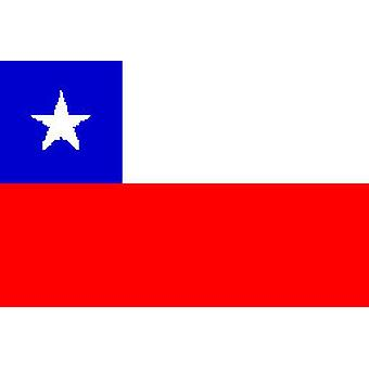 Chile Flag 5ft x 3ft With Eyelets For Hanging