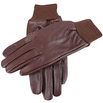 Dents Purdy Hairsheep Leather Shooting Gloves - Brown