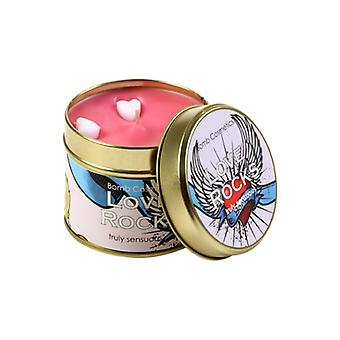 Bomb Cosmetics amore rocce Tin Candle