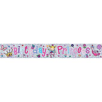Simon Elvin Childrens/Girls Birthday Princess Foil Banner
