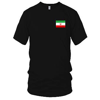 Iran Iranian Country National Flag - Embroidered Logo - 100% Cotton T-Shirt Mens T Shirt