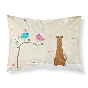 Regalos de Navidad entre amigos Terrier irlandés tela almohada estándar