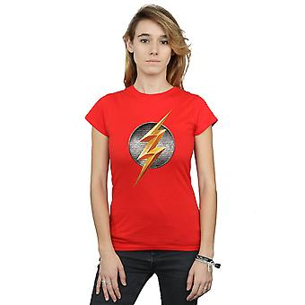 DC Comics Women's Justice League Movie Flash Emblem T-Shirt