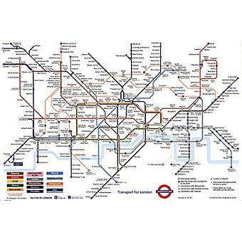 London Underground Map Poster Poster Print
