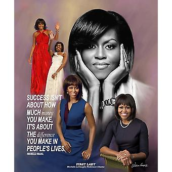 First Lady Michelle Obama Poster Print by Wishum Gregory (20 x 24)