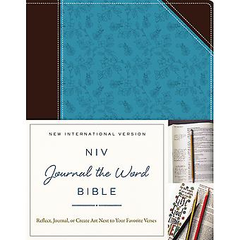 NIV Journal The Word Bible-Chocolate/Turquoise JB5562
