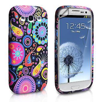 Yousave accesorios Samsung Galaxy S3 medusas Gel Funda - negro