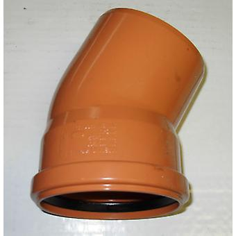 Soil Pipe 160 mm - 15 degree Bend - Push-Fit - Underground - Brown - 6