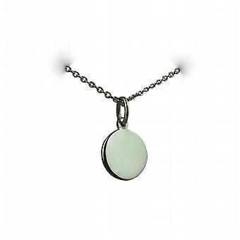 Silver 10mm plain round Disc with a rolo Chain 24 inches