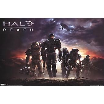 Halo - rekkevidde plakatutskrift