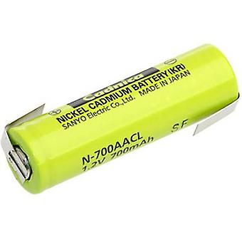 Non-standard battery (rechargeable) AA Z solder tab NiCd Panaso