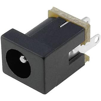 Low power connector Socket, vertical vertical 4 mm 2.5 mm