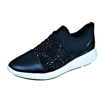 Womens Geox Trainers D Ophira B Casual Slip on Shoes - Black