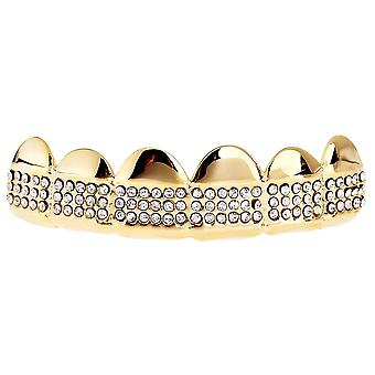 One Size Fits All Bling Grillz - MICRO PAVE TOP - Gold