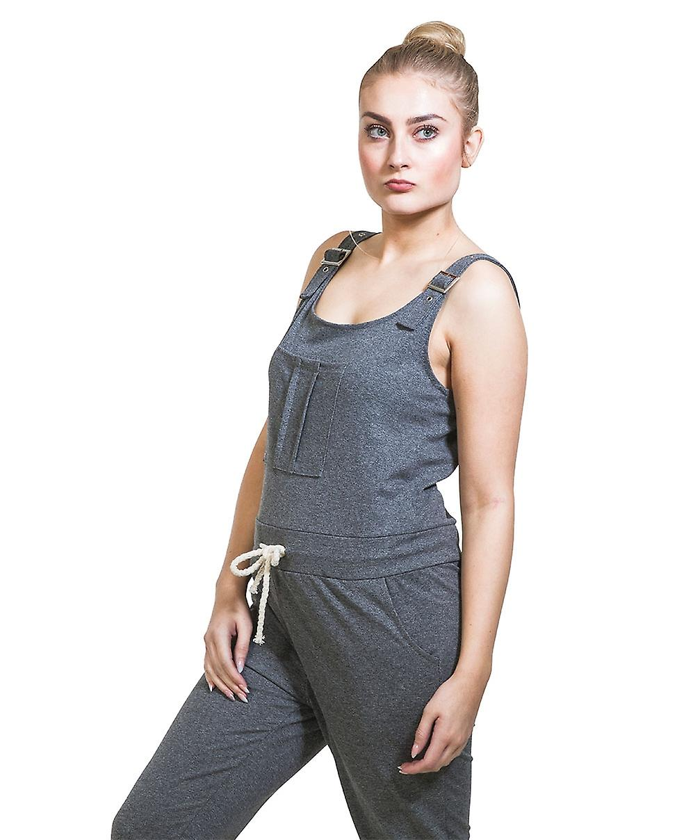 Ladies Jumpsuit - Grey All-in-one Overall Playsuit One size UK 8-12