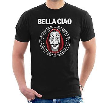 Casa De Papel dinero Heist Bella Ciao camiseta hombres