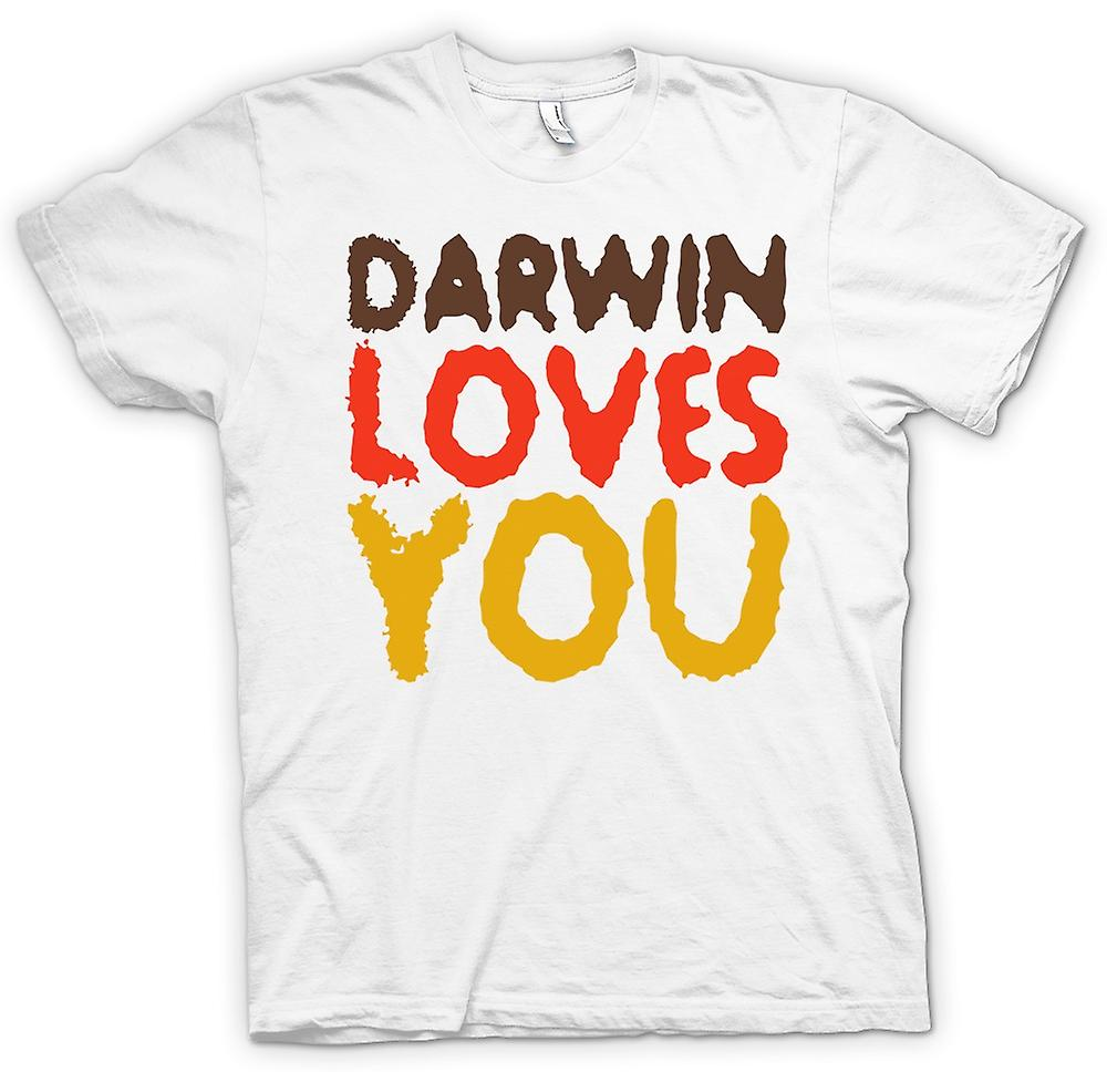 Heren T-shirt-Darwin Loves You - offerte