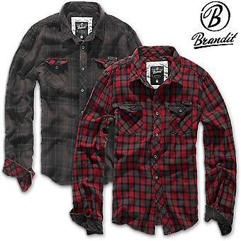 Brandit Duncan long sleeve shirt mens flannel