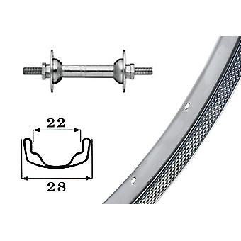 Bike parts 26″ wheel steel rim + low flange hub (chrome-plated)