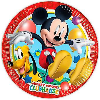 Plate party platter plate Mickey Mickey party birthday 23 cm diameter 8 pieces