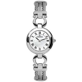 Michel Herbelin Womens Steel Cable Bracelet 17422/B29 Watch