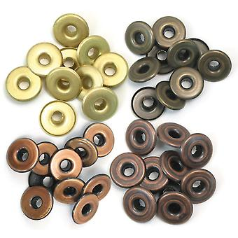 Eyelets Wide 40/Pkg-Warm Metal