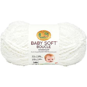 Lion Brand Baby Soft Boucle Yarn-White