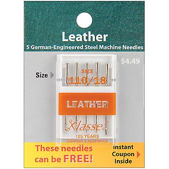Klasse Leather Machine Needles -Size 18/110 5/Pkg