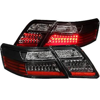 Anzo USA 321163 Toyota Camry Black LED Tail Light Assembly - (Sold in Pairs)