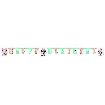 Minnie tropical mouse party Garland approx 170 cm Kids Birthday 1 piece