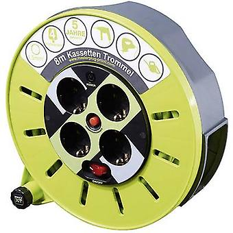 Goobay 51266 Cable reel 8 m Green PG plug