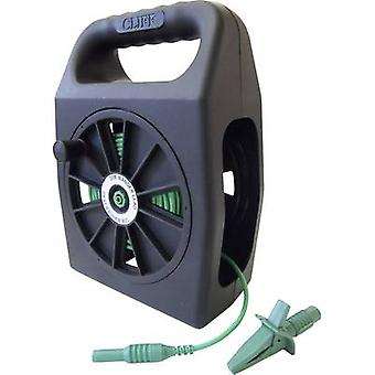 Cliff CIH299450 Safety test lead et [4 mm plug - 4 mm socket] 50 m Green