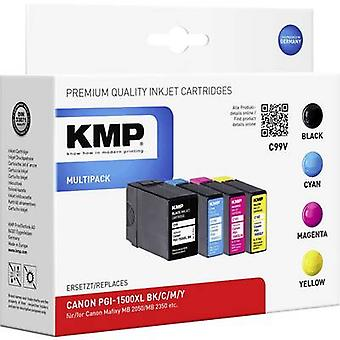 KMP Ink replaced Canon PGI-1500XL Compatible Set Black, Cyan, Magenta, Yellow C99V 1564,0050