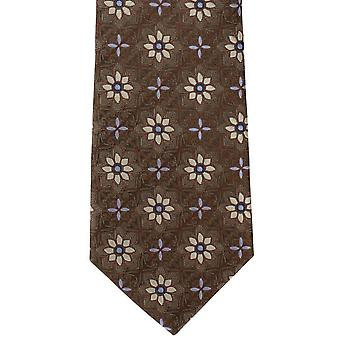 Michelsons of London Tile Medallion Silk Tie - Brown