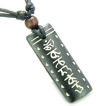 Amulet Tibetan Tag Mantra Om Mani Padme Hum Prayer Natural Bone Magic Pendant Necklace