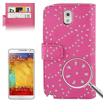 Cell phone cover cell phone case for mobile Samsung Galaxy Note3 N9000 cross pink