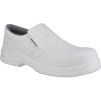 Amblers Safety Mens FS510 Slip On Waterproof Safety Shoes White