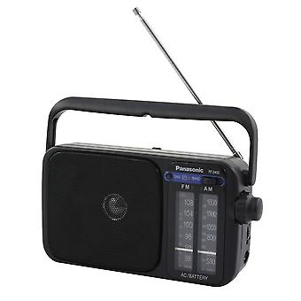 Panasonic RF2400D schwarz tragbares AM / FM AC/DC Table Radios