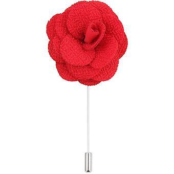 Дэвид ван Хаген цветок нагрудные Pin - красный