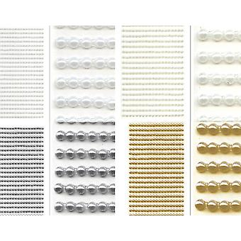 3mm Pearl Self Adhesive Craft Jewels - 418 Pieces