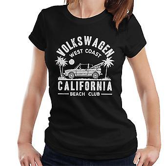 Official Volkswagen West Coast California White Text Women's T-Shirt