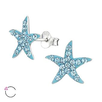 Starfish - 925 Sterling Zilver Crystal Ear Studs - W32788x