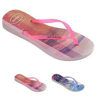 Womens Havaians Slim Paisage Summer Beach Holiday Lightweight Flip Flops